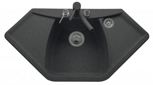 Granitový dřez Sinks TELMA NAIKY 980 granblack