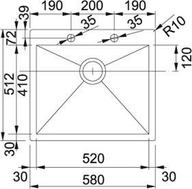 Nerezový dřez Franke PPX 210/610-58 TL