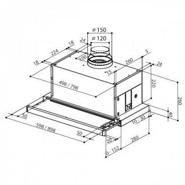 Technický nákres Maxima EG8 AM/X A60