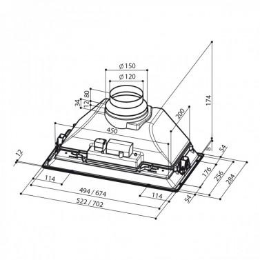 Technický nákres Inca Smart C LG A70