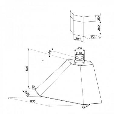 Technický nákres RANCH ANGOLO WB A100 bez rámu
