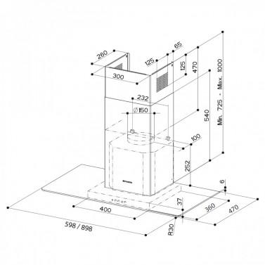 Technický nákres NICE EG8 X/V A90