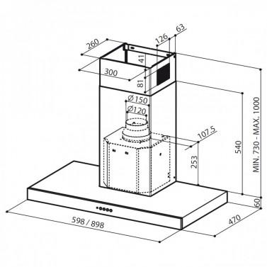 Technický nákres Stilo SP EG8 X A60