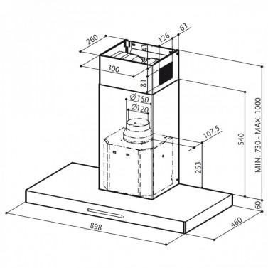 Technický nákres LOOK BRS X/V A90