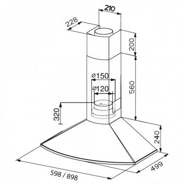 Technický nákres TENDER EG8 X A90
