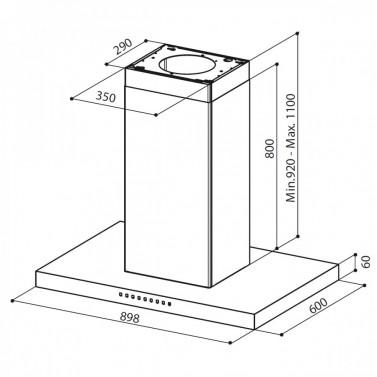 Technický nákres PRETTY ISOLA ACT EG8 X A90