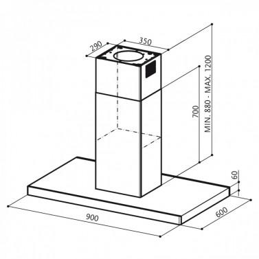 Technický nákres LOOK ISOLA BRS X/V A90