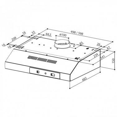 Technický nákres 741 BASE X A50