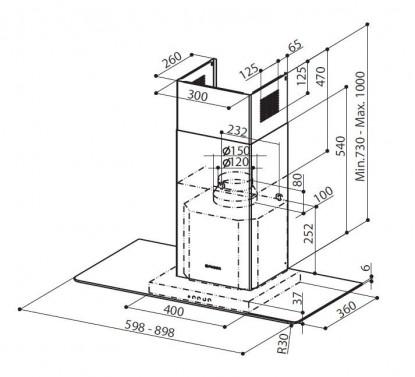 Technický nákres RAY X/V A90