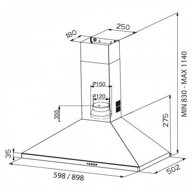 Technický nákres STRIP X A90