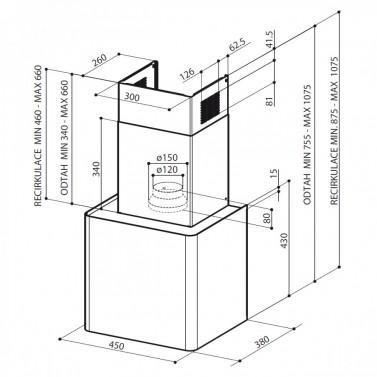 Technický nákres LITHOS EG6 WH A45
