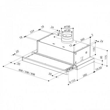 Technický nákres FLEXA W A50