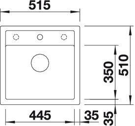 Granitový dřez DALAGO 5, nákres