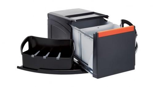 Kuchyňský sorter Franke Cube rohový 2x18 l