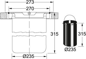 Sorter Franke KEA F12 montáž do roviny nákres
