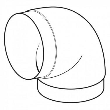 Koleno kulaté 100 mm č.1