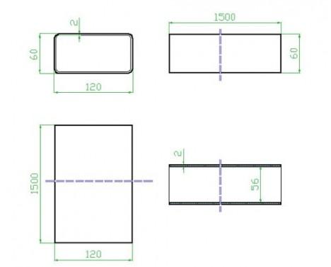 Potrubí ploché 1,5m - systém 100 mm č.2
