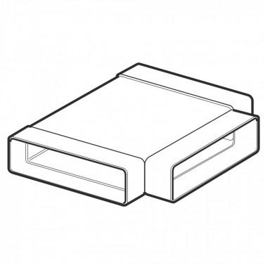 Horizontální T-kus - systém 100 mm č.1