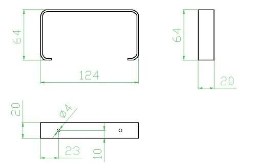 Úchyt plochého potrubí - systém 100 mm č.2