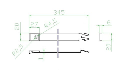 Úchyt kulatého potrubí- systém 100 mm č.2