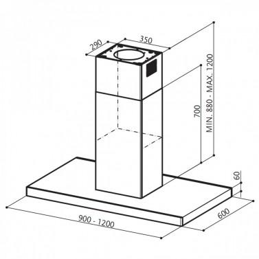 Technický nákres Stilo Isola SP EG8 X A120