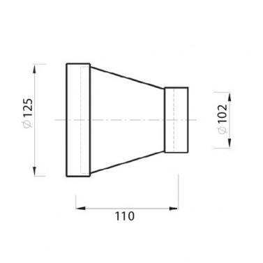 Přechod čtyřhran-kruh 87.470 č.1