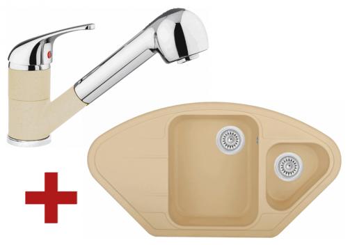 Sinks LOTUS 960.1 Sahara + Sinks CAPRI 4 S - 50 Sahara