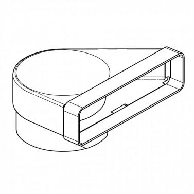 Přechodové koleno 90 st - systém 125 mm