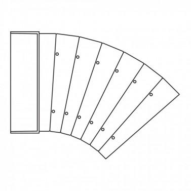 Oblouk horizontální - systém 125 mm č.1