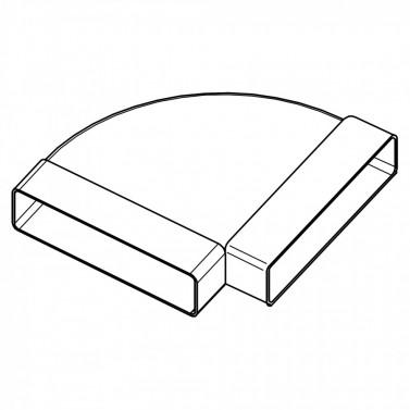 Koleno horizontální 90st - systém 125 mm č.1