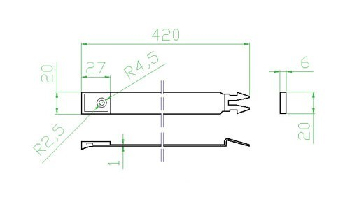 Úchyt kulatého potrubí - systém 125 mm č.2
