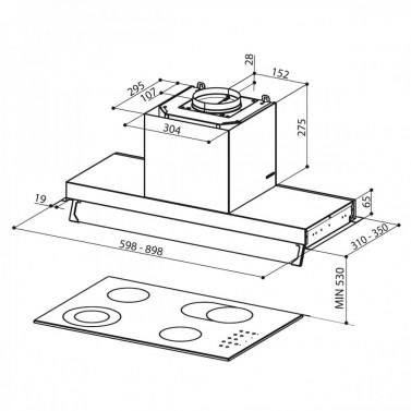 Technický nákres STILNOVO LUX X A60