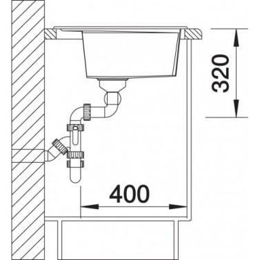 Granitový dřez Blanco LEXA 9 E nákres