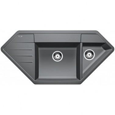 Granitový dřez Blanco LEXA 9 E  aluminium
