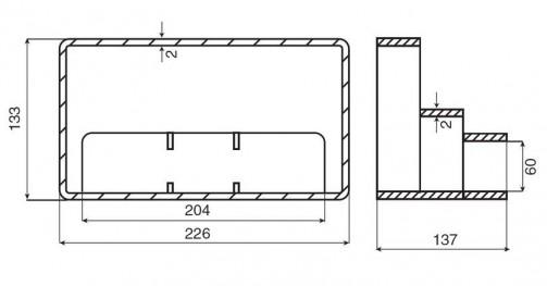 Mřížka + redukce - ( 204 x 60 ) č.2