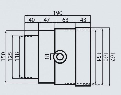 Kondenzační jímka 87.5697 - 125-150mm