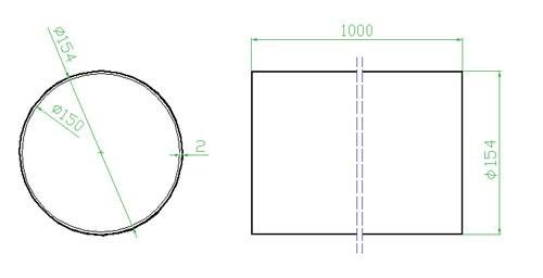 Potrubí kulaté 150 x 1000 mm
