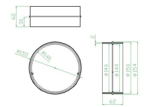 Spojka pro kulaté potrubí - systém 150 mm č.2