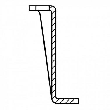 Úchyt plochého potrubí - systém 150 mm č.1