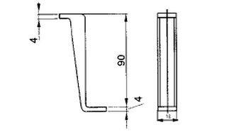 Úchyt plochého potrubí - systém 150 mm č.2