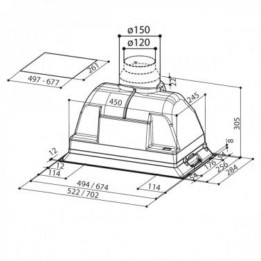 Technický nákres INCA PLUS HCS X A70