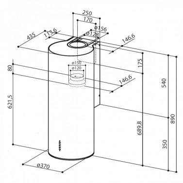 Technický nákres CYLINDRA EG8 X A 37
