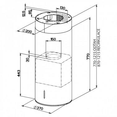 Technický nákres CYLINDRA ISOLA EG8 X A37