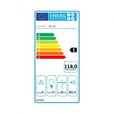 Digestoř EMPIRE KD 317060 eneregetický štítek