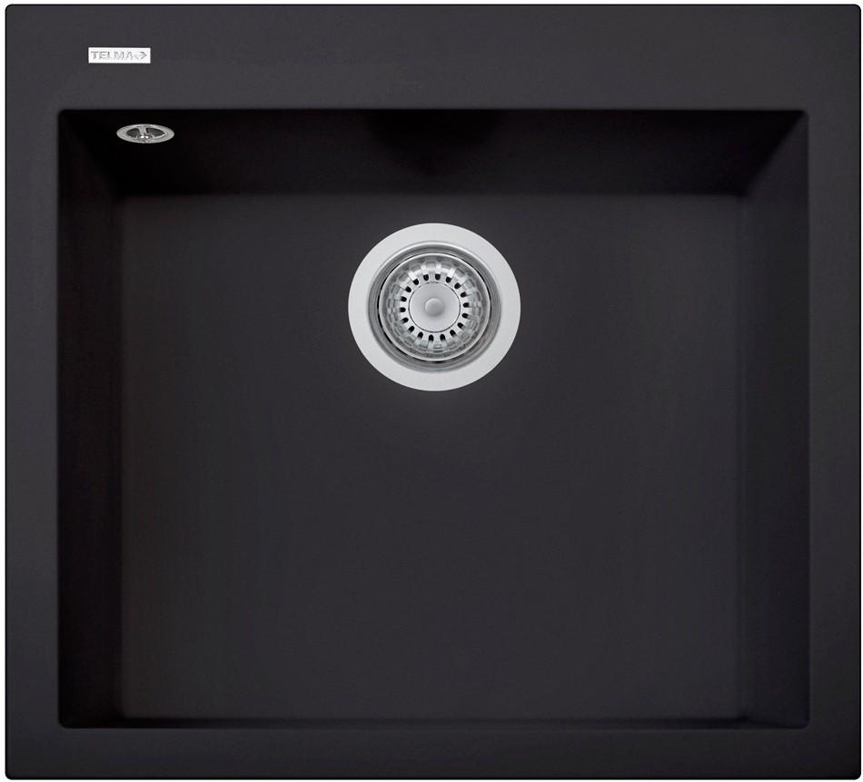 Sinks CUBE 560.500 black matt