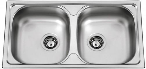 Nerezový dřez Sinks OKIO 780 DUO V 0,6mm texturovaný
