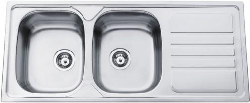 Nerezový dřez Sinks OKIO 1200 DUO V 0,7mm matný