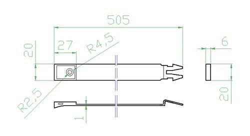 Úchyt kulatého potrubí - systém 150 mm č.3