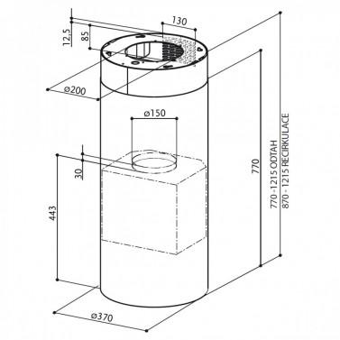 Technický nákres FLOW ISOLA GLOSS EG10 WH A37