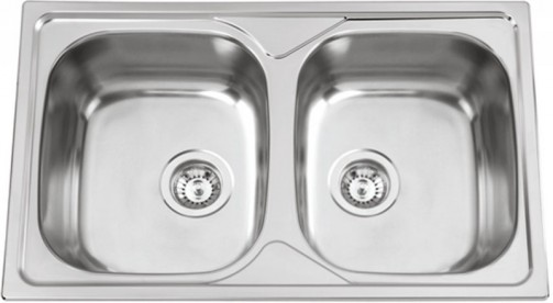 Nerezový dřez Sinks OKIO 800 DUO V 0,6mm leštěný